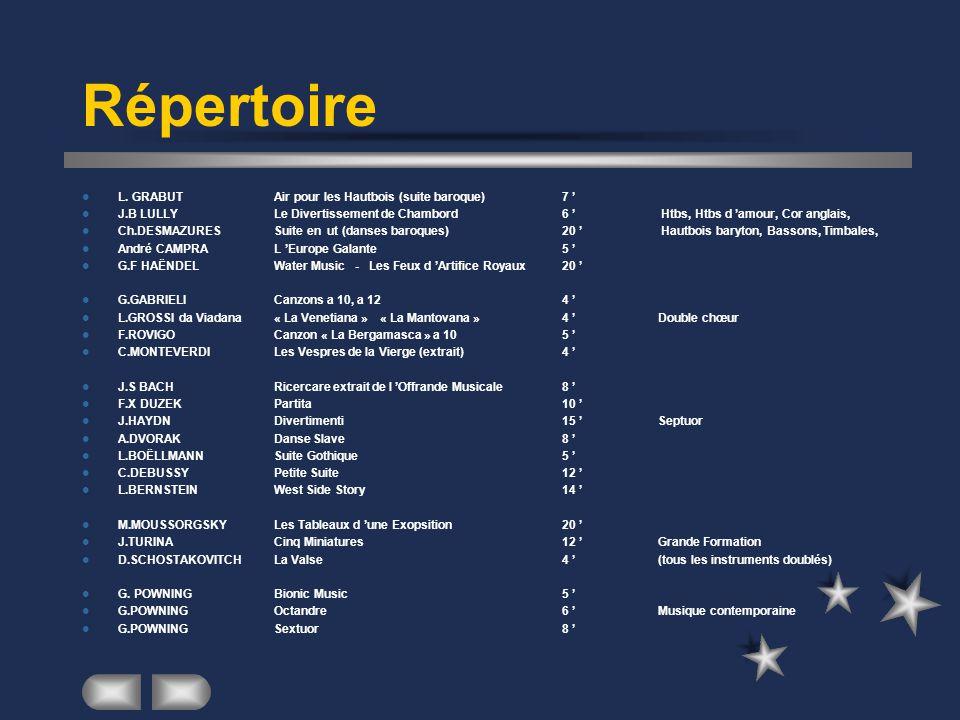 Répertoire L. GRABUT Air pour les Hautbois (suite baroque) 7 '