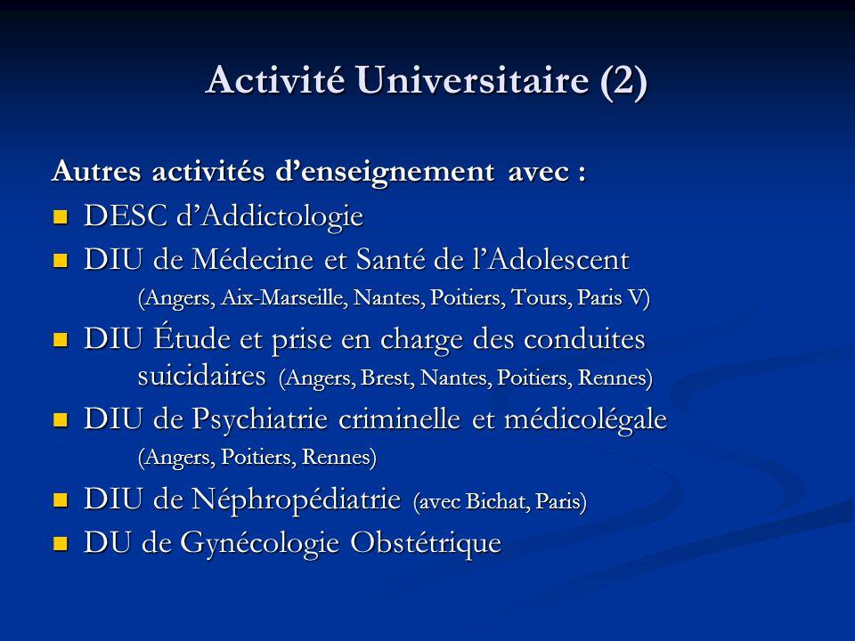 Activité Universitaire (2)