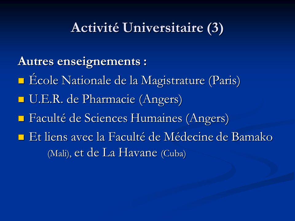 Activité Universitaire (3)