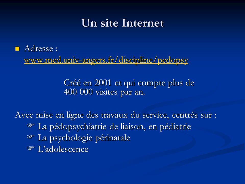 Un site Internet Adresse : www.med.univ-angers.fr/discipline/pedopsy