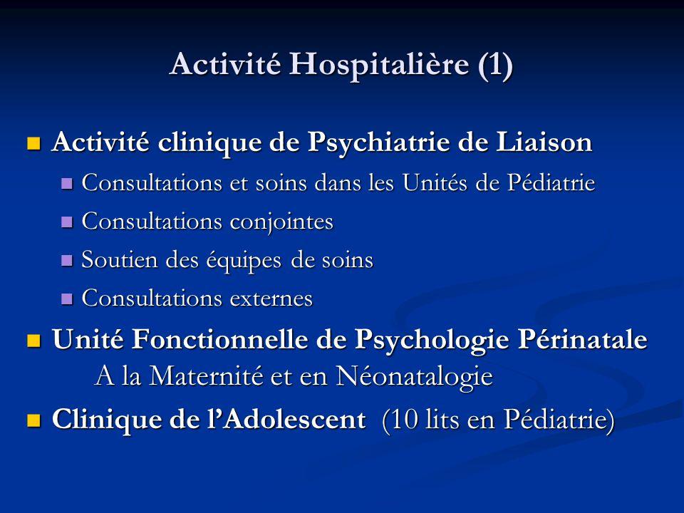 Activité Hospitalière (1)