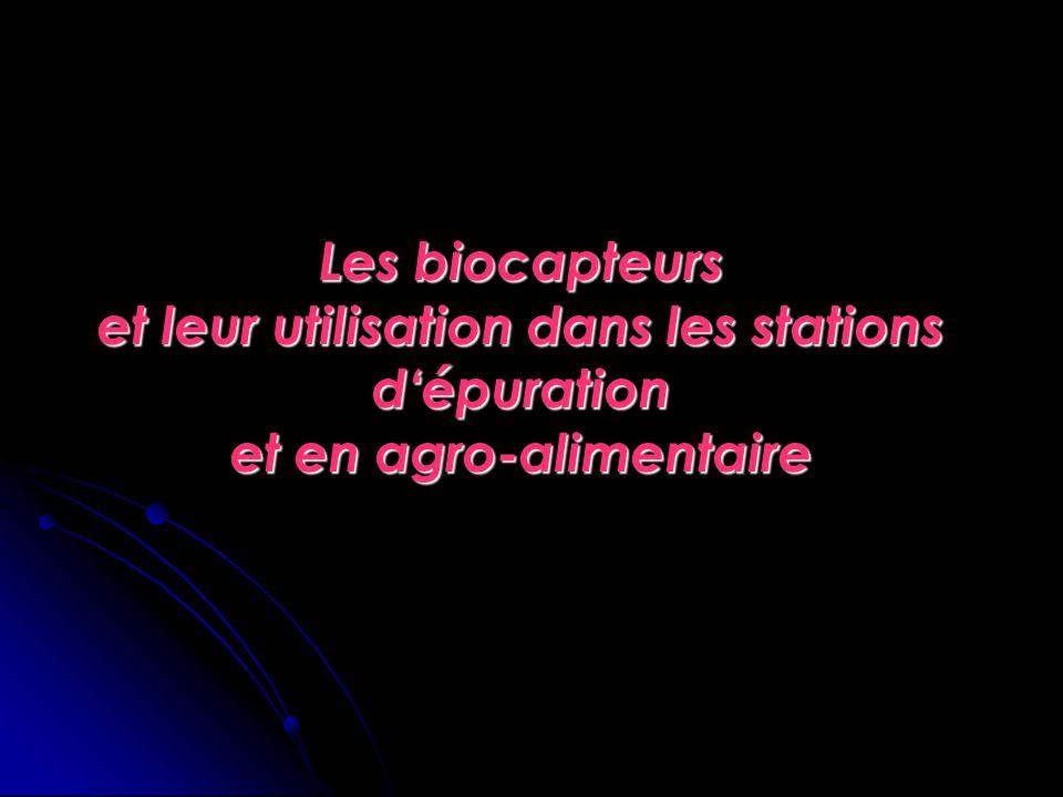 Les biocapteurs et leur utilisation dans les stations d'épuration et en agro-alimentaire