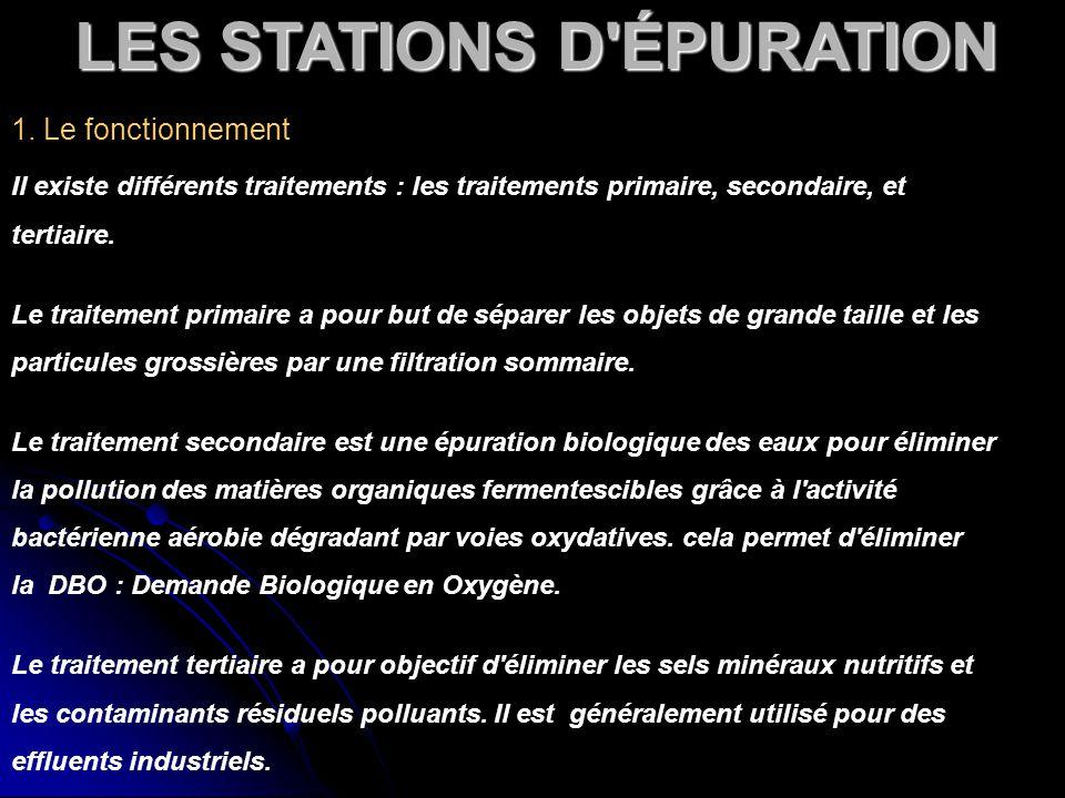 LES STATIONS D ÉPURATION