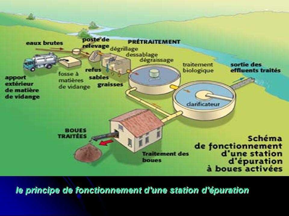 le principe de fonctionnement d une station d épuration