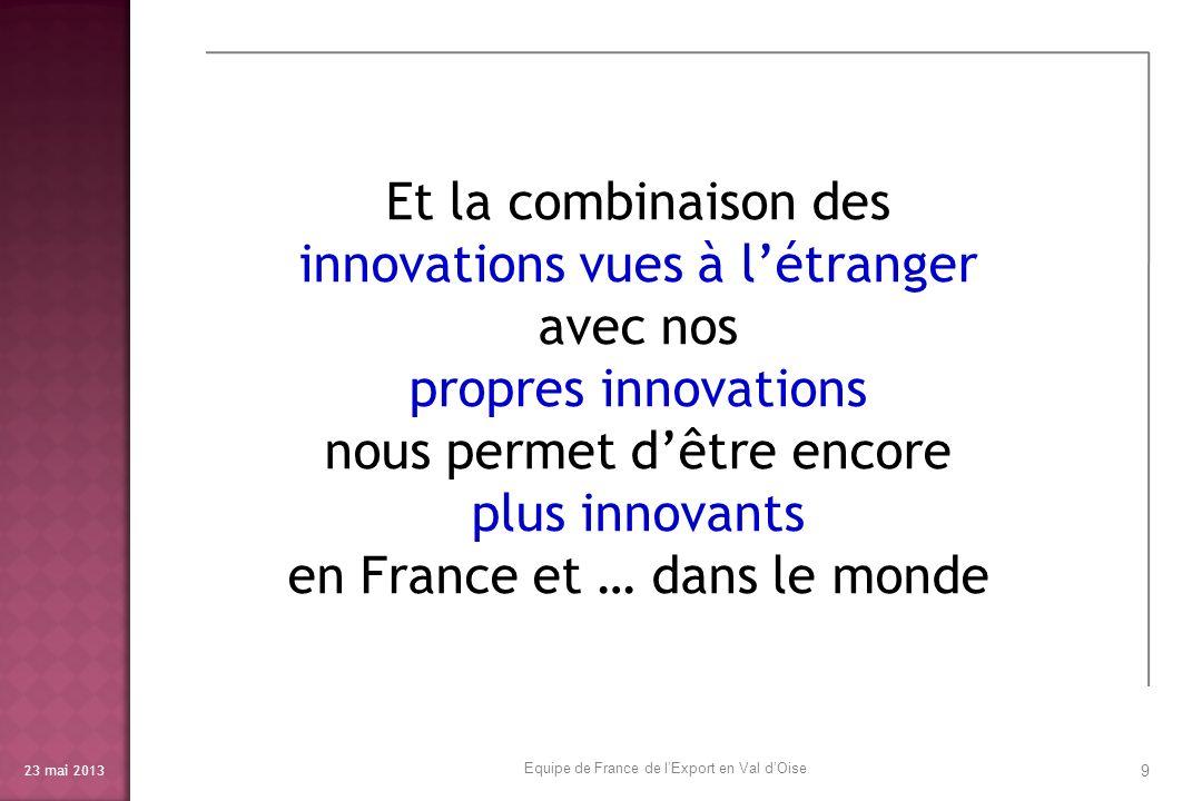 innovations vues à l'étranger avec nos propres innovations
