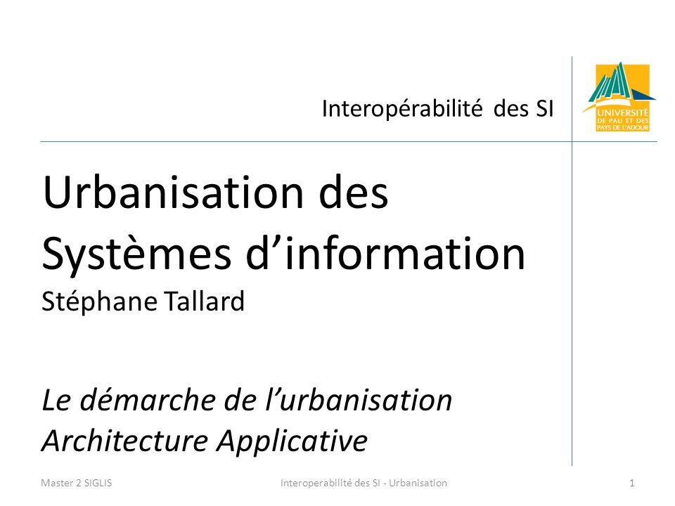 Interoperabilité des SI - Urbanisation