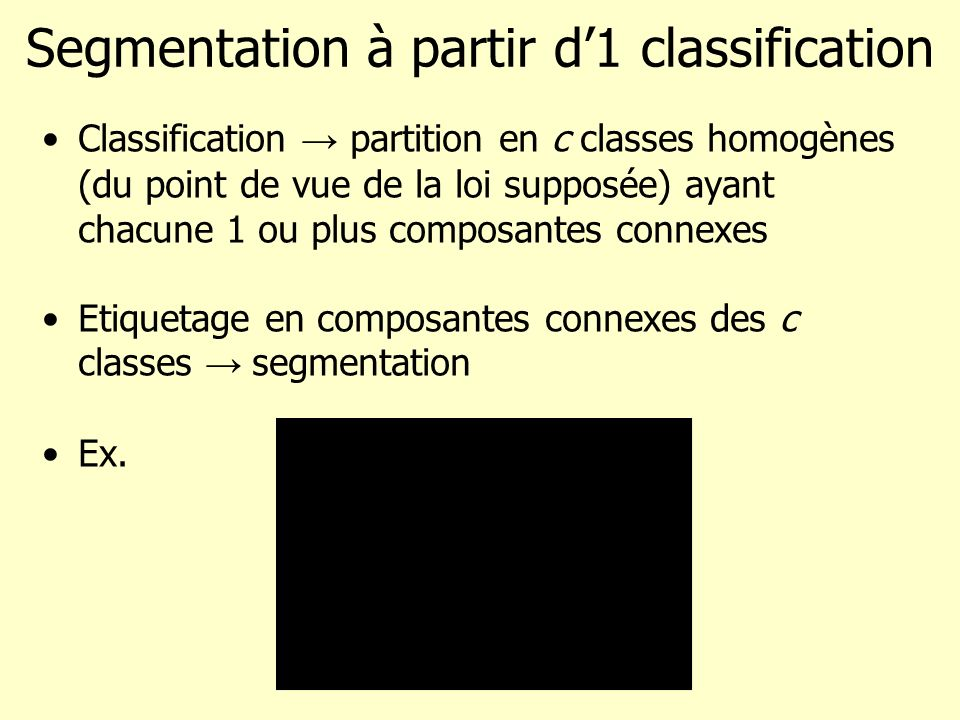 Segmentation à partir d'1 classification