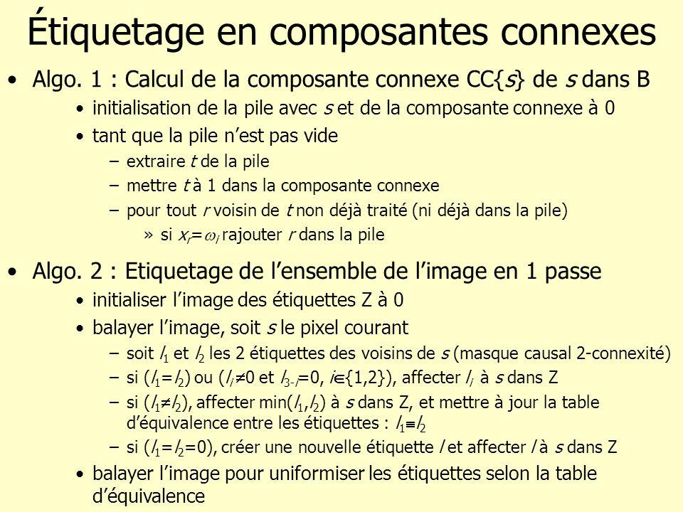 Étiquetage en composantes connexes