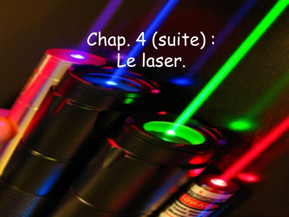 Chap. 4 (suite) : Le laser.