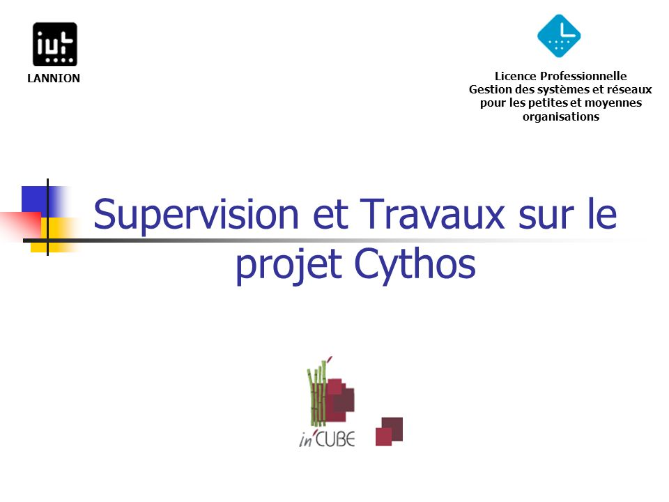 Supervision et Travaux sur le projet Cythos