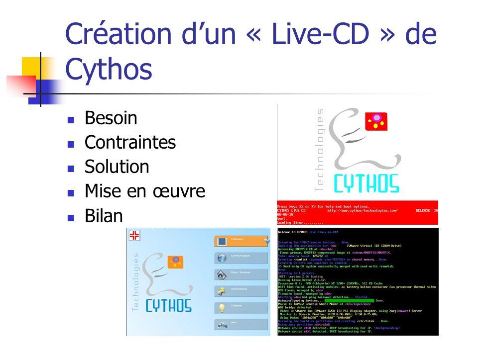 Création d'un « Live-CD » de Cythos