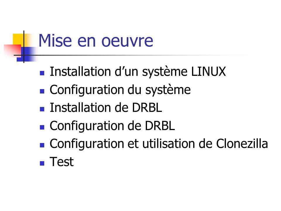Mise en oeuvre Installation d'un système LINUX
