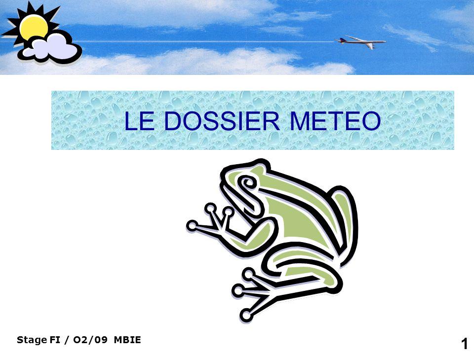 LE DOSSIER METEO