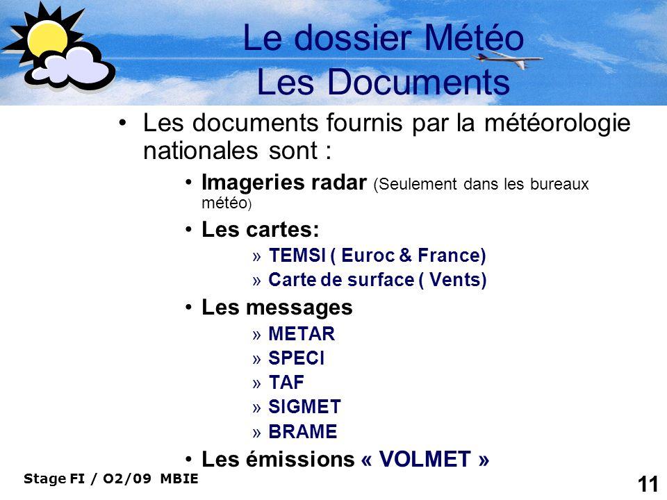 Le dossier Météo Les Documents