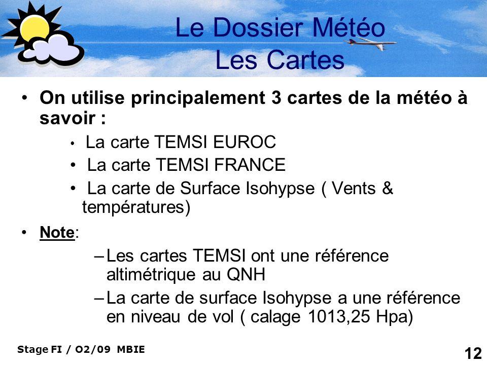 Le Dossier Météo Les Cartes