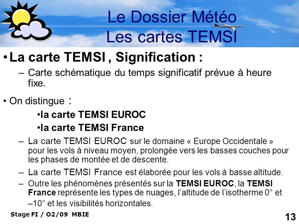 Le Dossier Météo Les cartes TEMSI