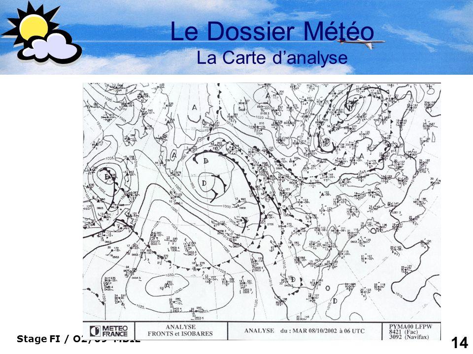 Le Dossier Météo La Carte d'analyse