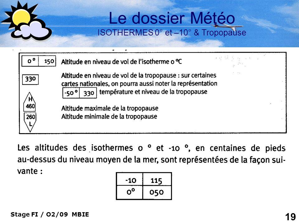 Le dossier Météo ISOTHERMES 0° et –10° & Tropopause
