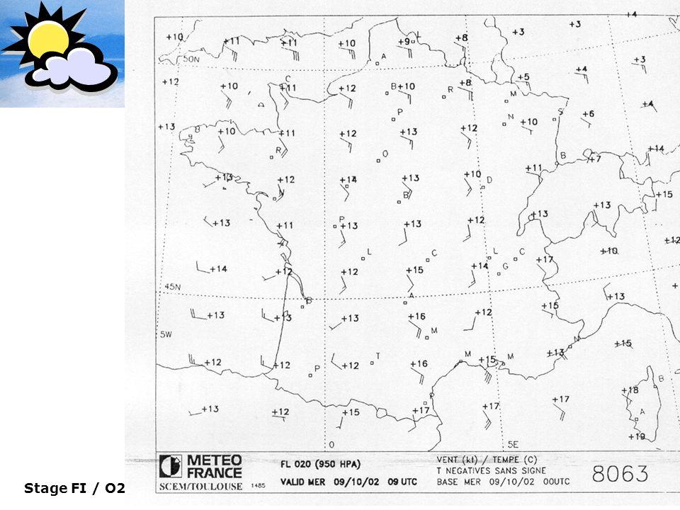 Le Dossier Météo Carte de surface 950 Hpa (Vents & Température)