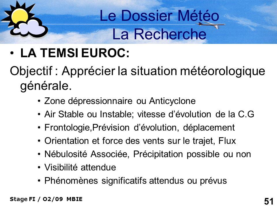 Le Dossier Météo La Recherche