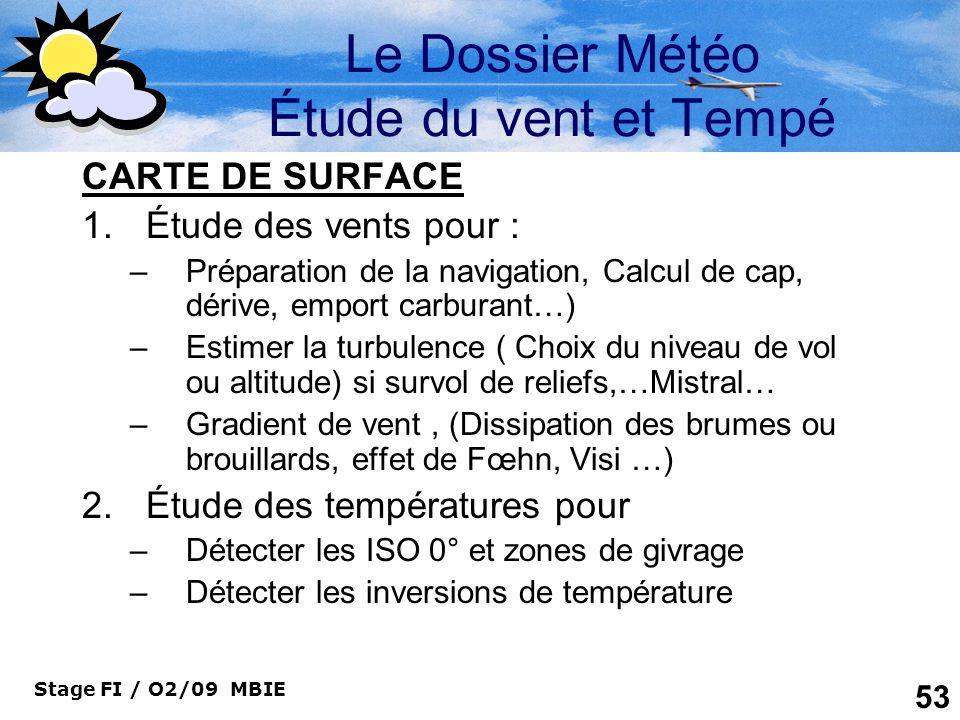 Le Dossier Météo Étude du vent et Tempé