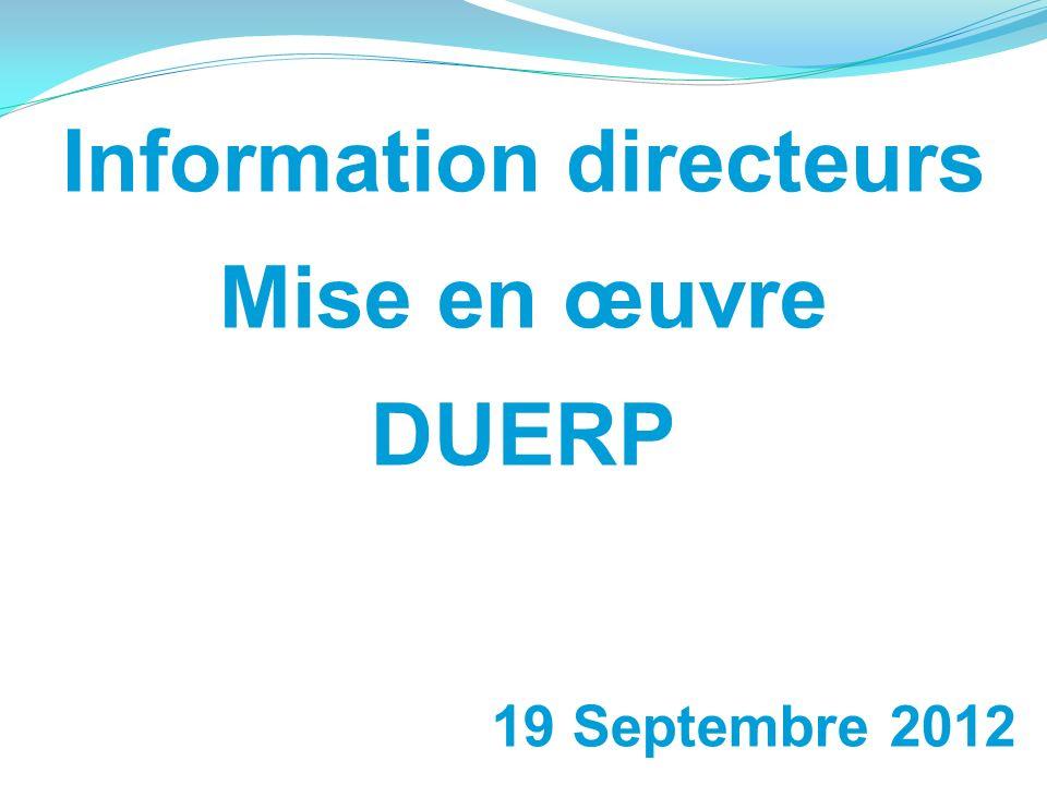 Information directeurs