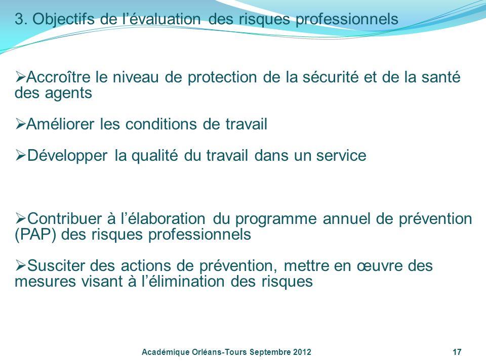 3. Objectifs de l'évaluation des risques professionnels