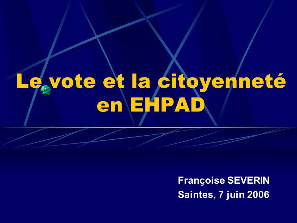 Le vote et la citoyenneté en EHPAD