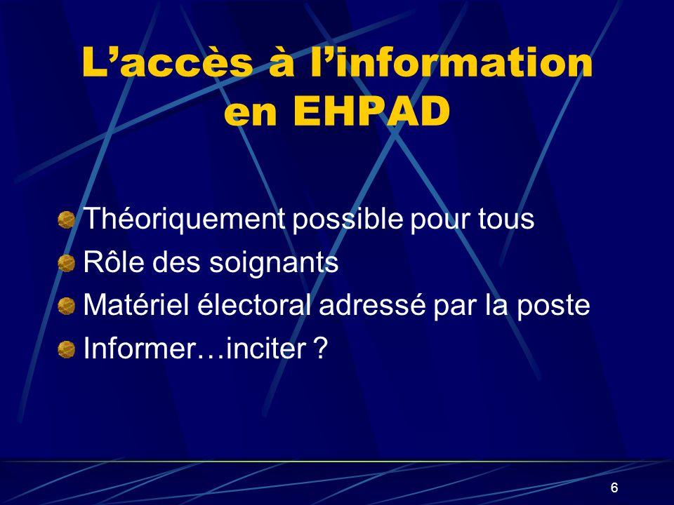 L'accès à l'information en EHPAD
