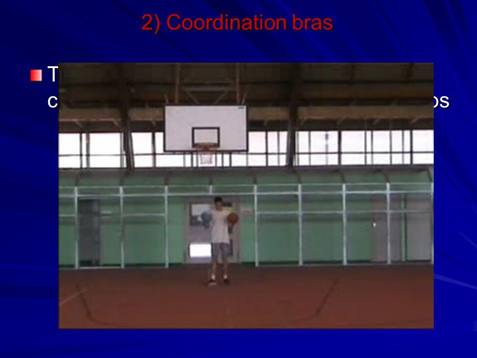 2) Coordination bras Travail de dribble à 2 balles avec changement de main simple et dans le dos