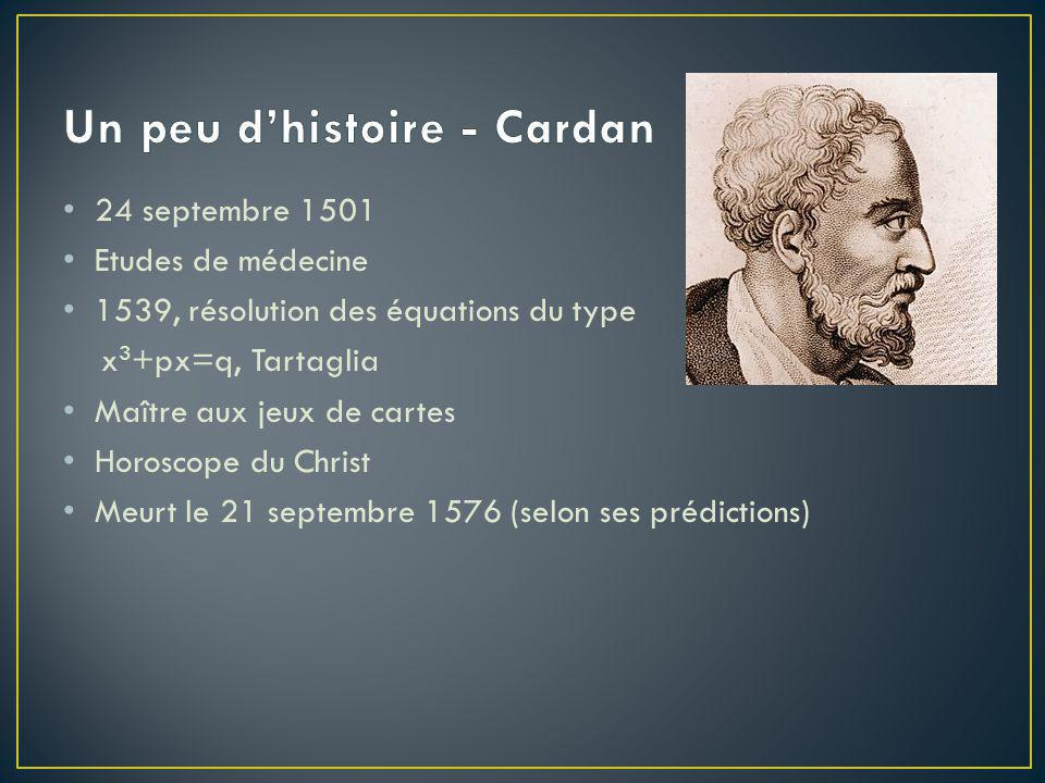 Un peu d'histoire - Cardan