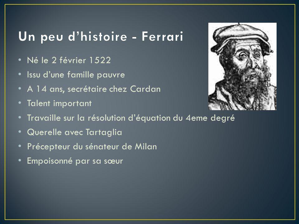 Un peu d'histoire - Ferrari