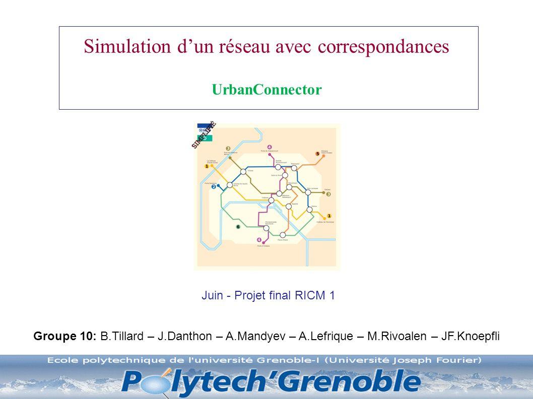 Simulation d'un réseau avec correspondances