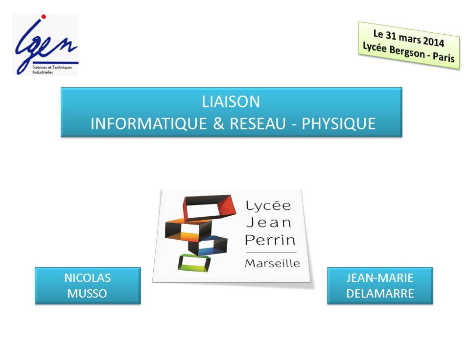 Liaison Informatique & RESEAU - Physique