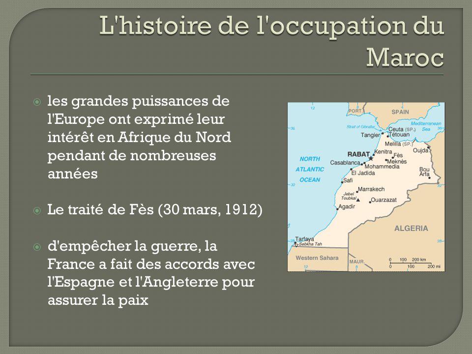 L histoire de l occupation du Maroc