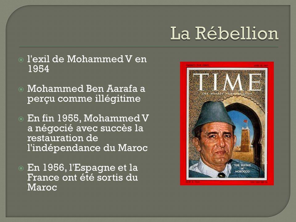 La Rébellion l exil de Mohammed V en 1954