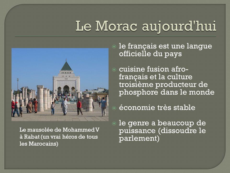 Le Morac aujourd hui le français est une langue officielle du pays