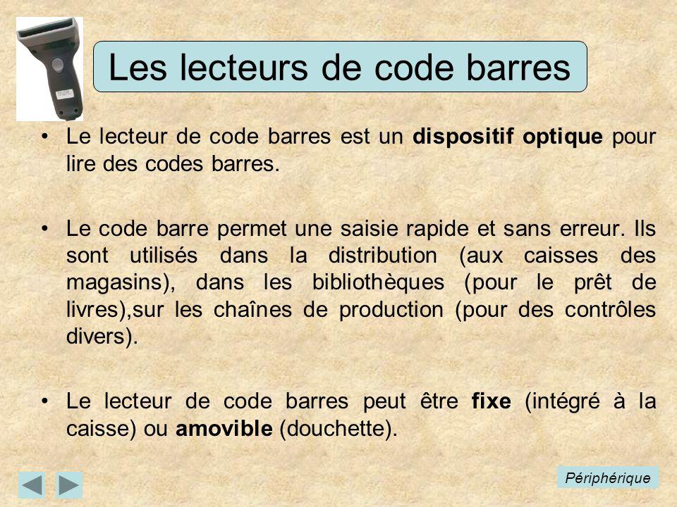Les lecteurs de code barres