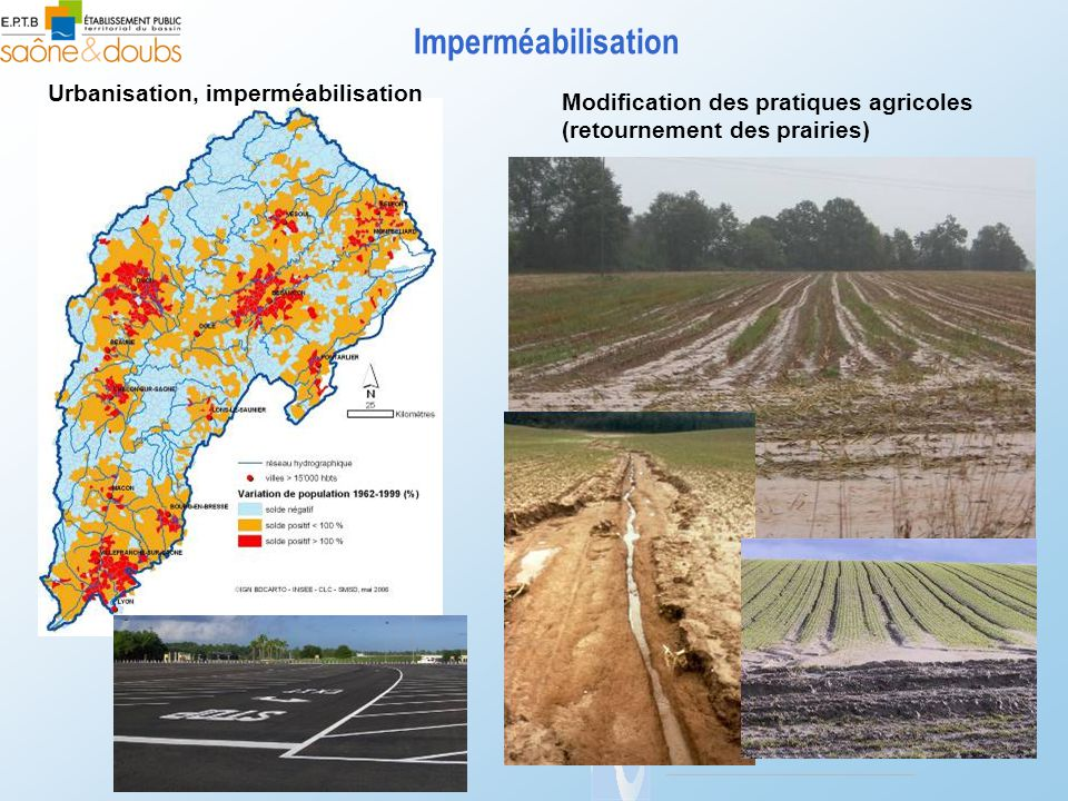 Imperméabilisation Urbanisation, imperméabilisation