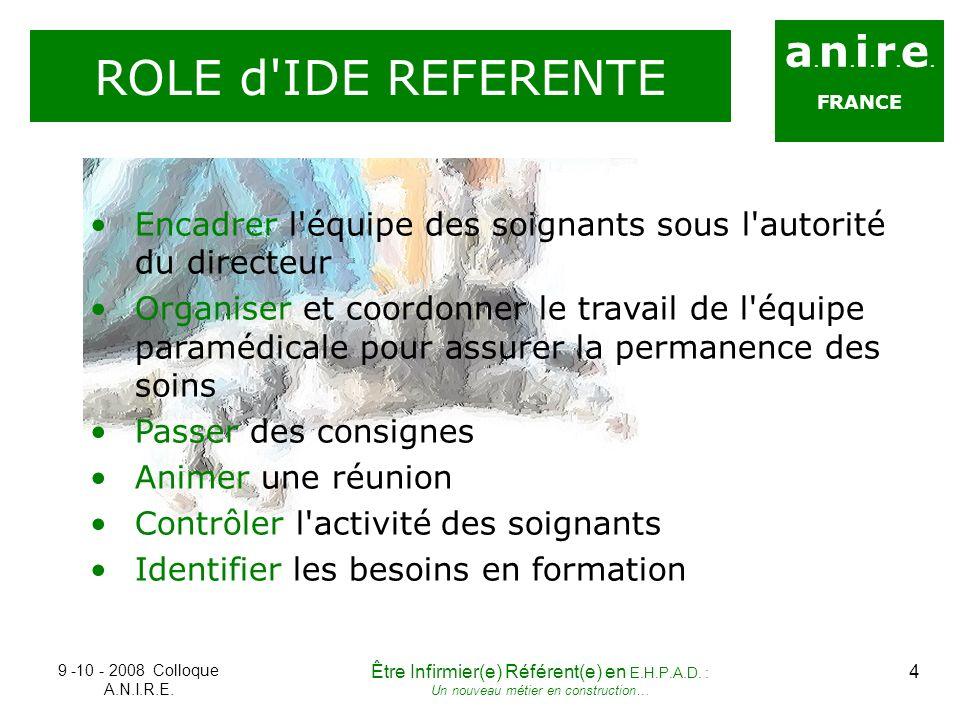 ROLE d IDE REFERENTE a.n.i.r.e.