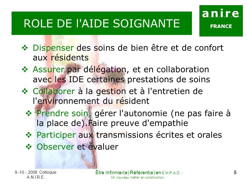 ROLE DE l AIDE SOIGNANTE