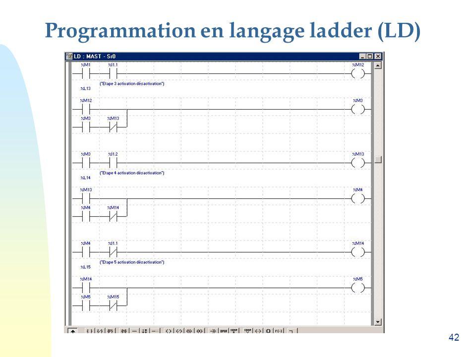 Programmation en langage ladder (LD)