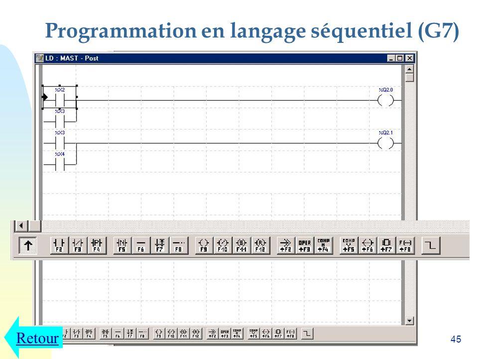 Programmation en langage séquentiel (G7)