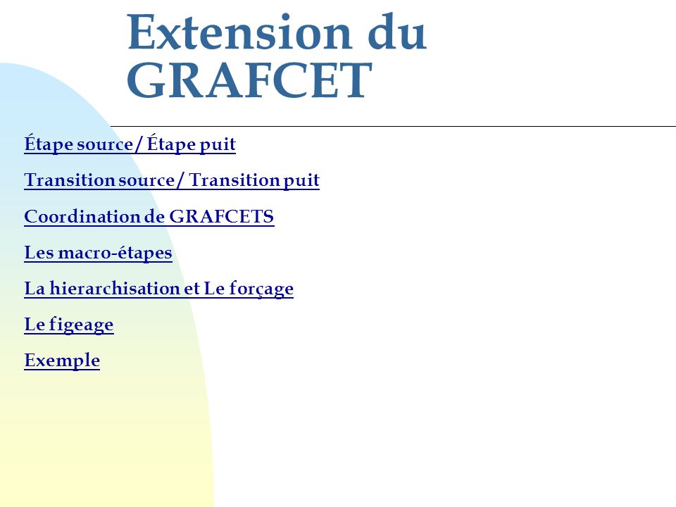 Extension du GRAFCET