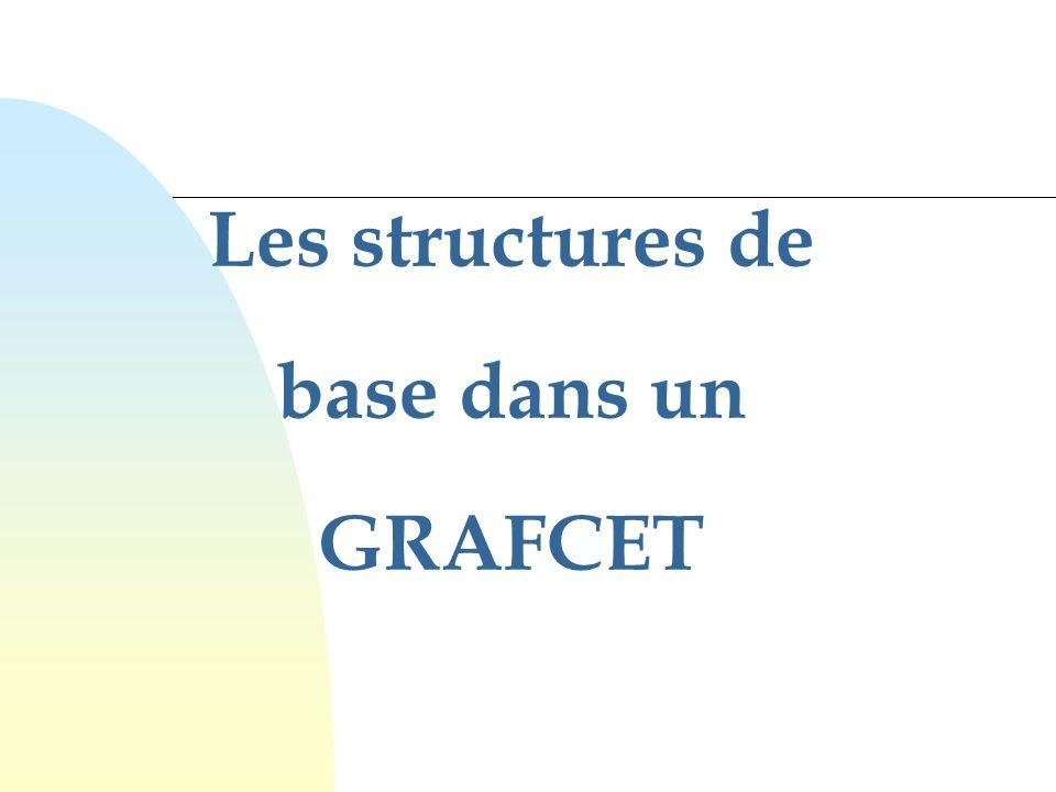 Les structures de base dans un GRAFCET