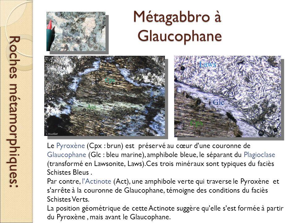 Métagabbro à Glaucophane