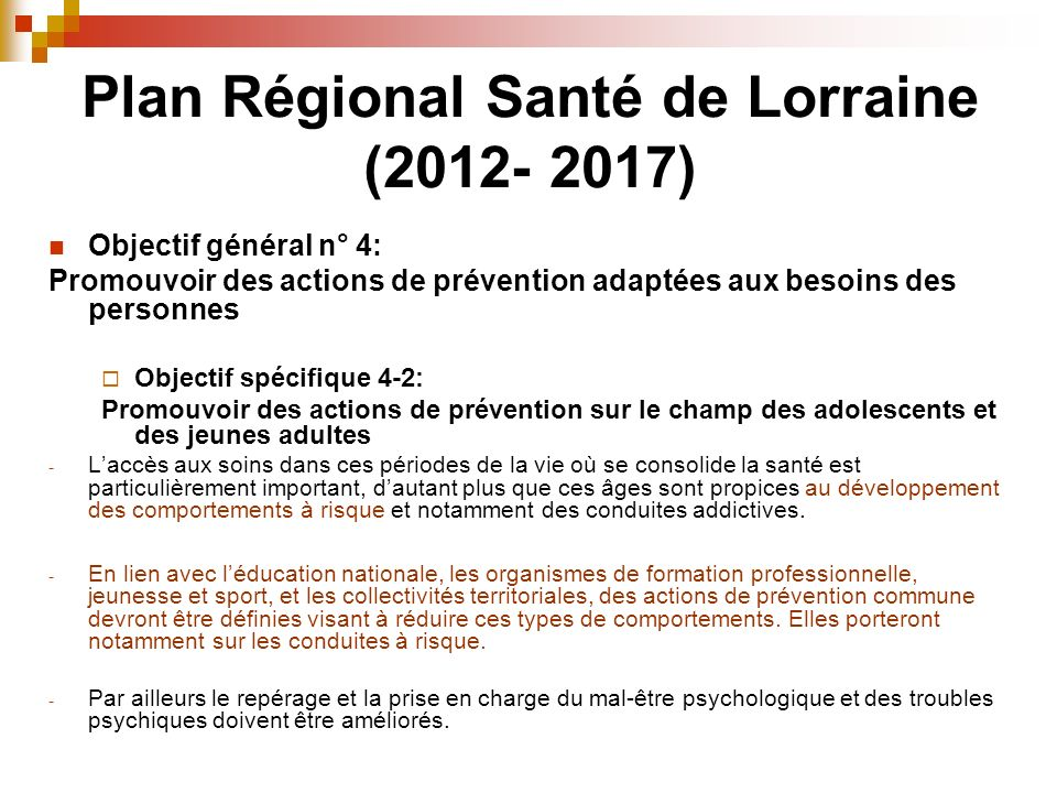 Plan Régional Santé de Lorraine (2012- 2017)
