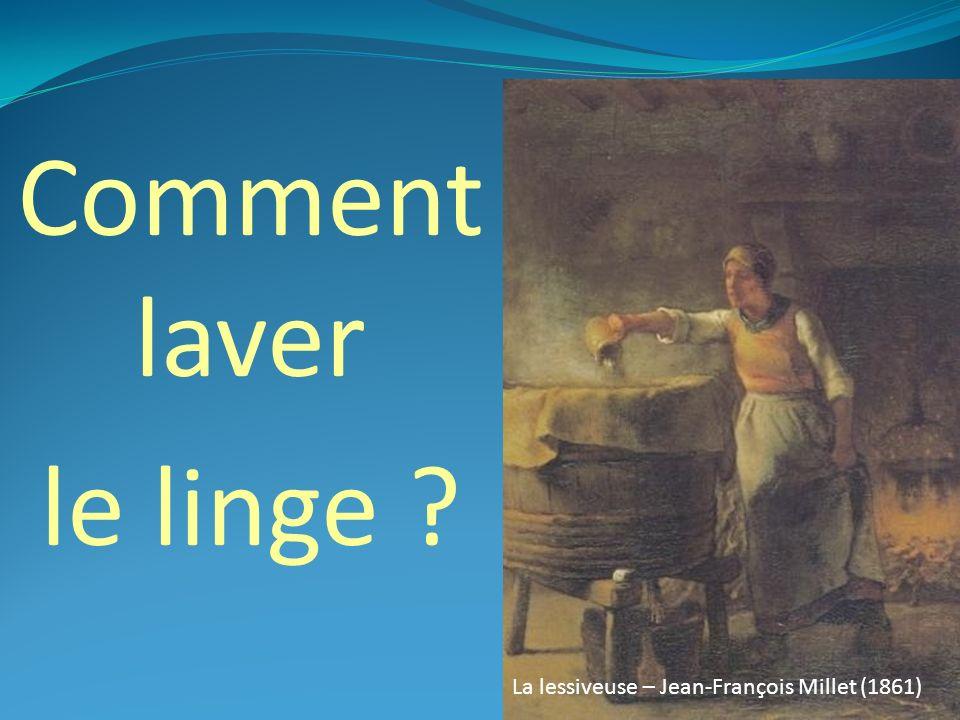 Comment laver le linge Lavandière / Jean-François Millet