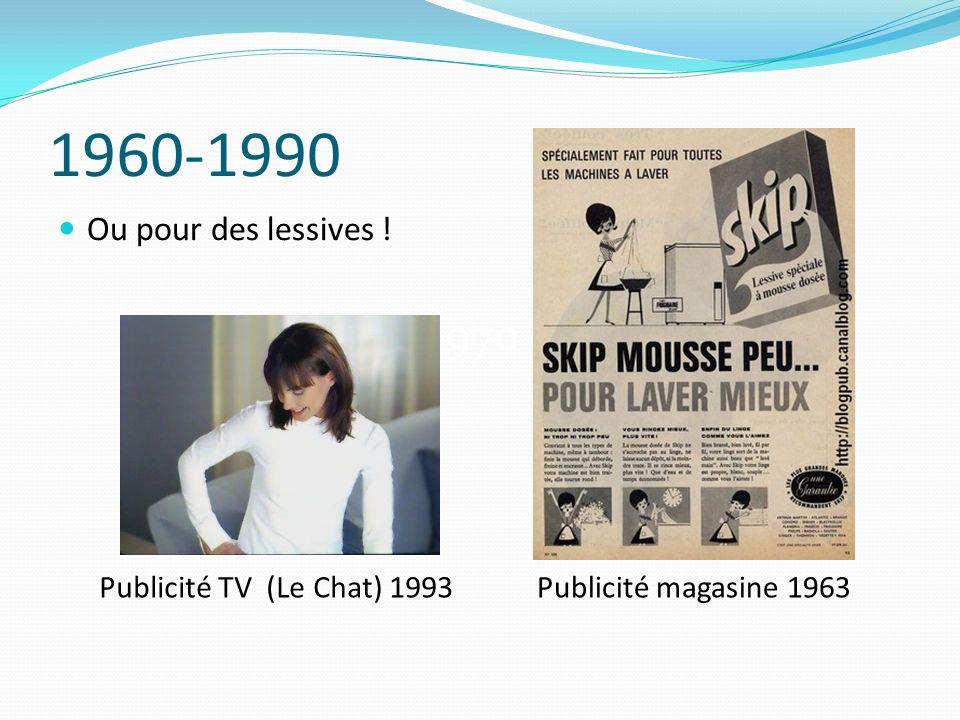 1960-1990 1970 Ou pour des lessives ! Publicité TV (Le Chat) 1993