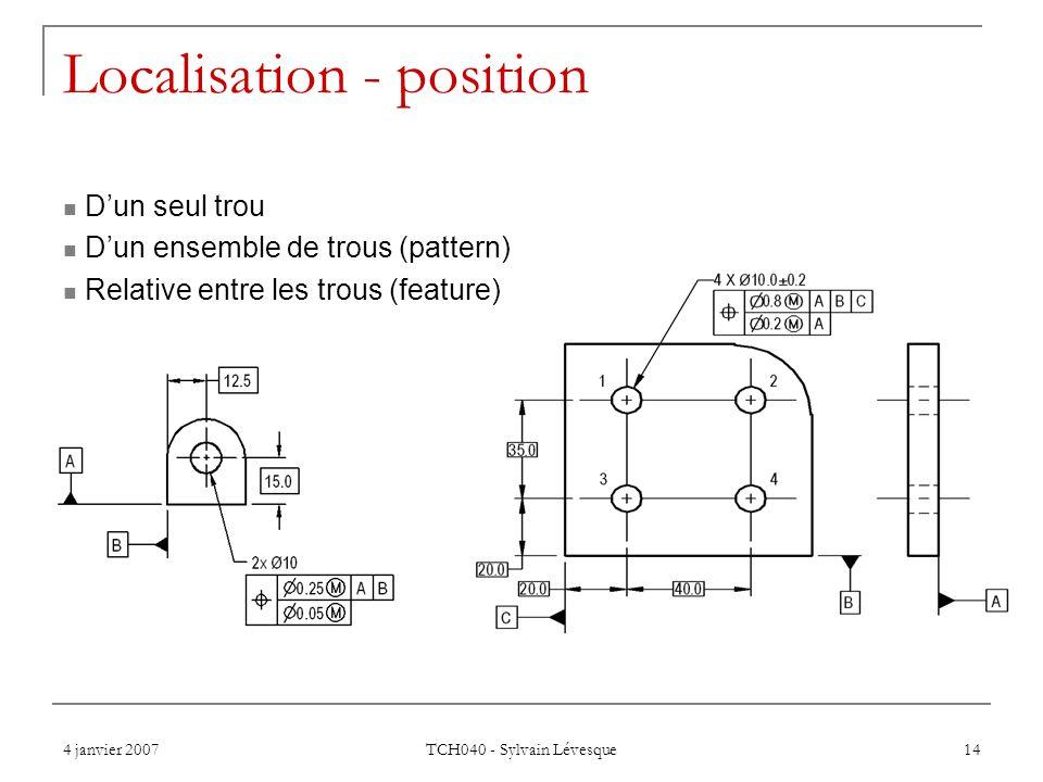Localisation - position